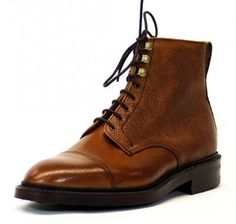 Alfred Sargent Cambridge boot with a country grain toe cap derby boot with a Dainite sole on Alfred Sargent's 87 last.