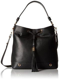 96191aa12251 Amazon.com: MILLY Astor Bucket Bag, Black, One Size: Clothing