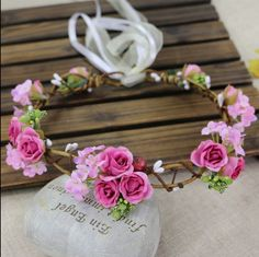 Find More Hair Accessories Information about  Handmade Woman Fabric Rose Flower Crowns Wedding Bridal Bridesmaid Flower Wreath Hair Accessory, Party Girls Garland,High Quality garland tinsel,China garland craft Suppliers, Cheap fabric from Hair's Art Online Wholesale Store on Aliexpress.com