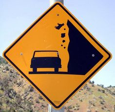 From the website:  This genuine CalTrans highway sign is located at the intersection of SR-178 and the Old Kern Canyon Road and faces west down the canyon.