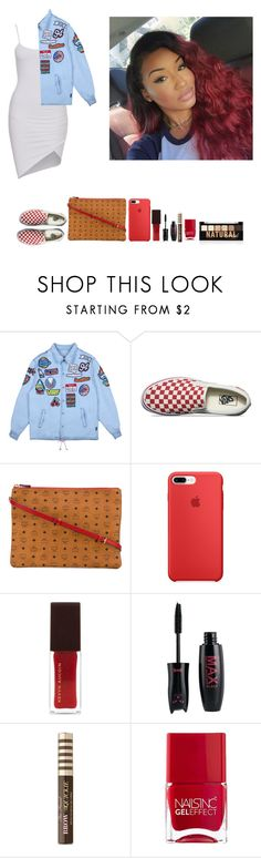 """""""-Glo Queen"""" by thegloup-reina on Polyvore featuring GCDS, Vans, MCM, Too Faced Cosmetics, Nails Inc. and NYX"""