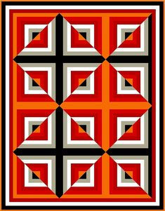 Optical Illusion Quilts, Art Optical, Log Cabin Quilt Pattern, Barn Quilt Patterns, Geometric Quilt, Geometric Art, Tumbling Blocks Quilt, Japanese Patchwork, Principles Of Art