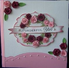 SU Apothecary Art, Loving Thoughts, Labels Collection Framelits, edgelit *add a Labels Collection Framelits layer Quilled Roses, Quilling Flowers, Quilling Cards, Paper Quilling, Quilling Ideas, Paper Lace, Making Greeting Cards, Stamping Up, Flower Cards