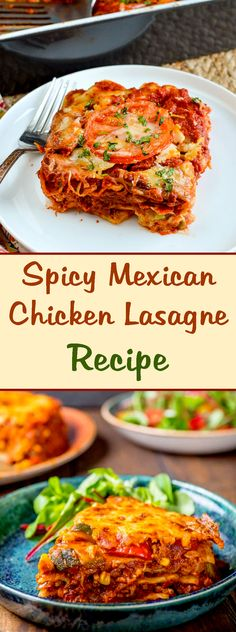 Spicy Mexican Chicken Lasagne Recipe Mexican spicy chicken lasagna - Mexican food with a special delicious taste in the lasagna recipe. Lasagne Recipes, Spicy Chicken Recipes, Tomato Soup Recipes, Mexican Food Recipes, Mexican Dishes, Chicken Avocado Soup, Chicken Lasagne, Mexican Chicken, Koken