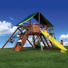 Your kid's backyard with be the coolest one in town with the Olympian Peak 1 Play Set from Family Leisure! Kids Play Yard, Kids Outdoor Play, Backyard For Kids, Backyard Ideas, Playground Set, Backyard Playground, Kids Clubhouse, Family Leisure, Outdoor Play Structures