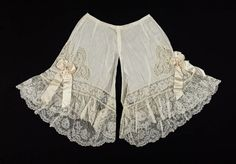 BLOOMERS!! Pair of drawers, French, About 1900…….I CAN REMEMBER MY GRANDMOTHER WEARING THESE………..ccp