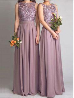 Chiffon Backless Pale Purple Grey Maxi Lace Bridesmaids Dress Cheap Long Bridesmaid Dresses Under 70 Wedding Party Dress 2015