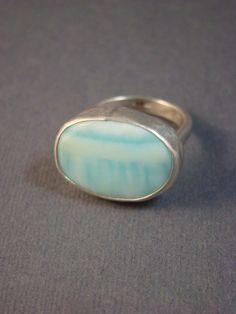 silver peruvian opal ring.  nice!