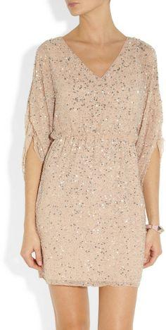 3ac799274f Alice + Olivia Olympia Sequined Silk Chiffon Dress in Pink (silver) - Lyst  Vestido