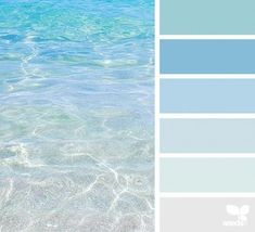 Escape Could be beautiful to base a house color palette off of ocean colors.Could be beautiful to base a house color palette off of ocean colors.