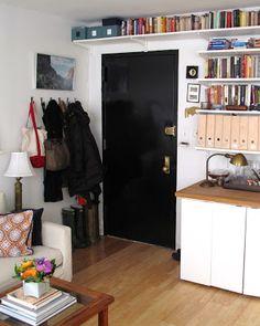 Elfa shelves | the little house in the city: One Last Look: Living Room
