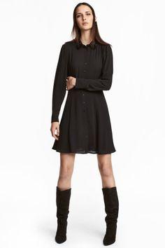 Robe chemise en crêpe - Noir - FEMME   H M FR H m Fashion, Fashion Online e60518fdb98c