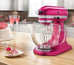 Kitchenaid-Stand Mixer.  Raspberry Ice colour.  http://www.kitchenaid.com/flash.cmd?/#/product/KSM155GBRI/