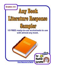 FREE Any Book Literature Sampler - 15 Printable Pages!