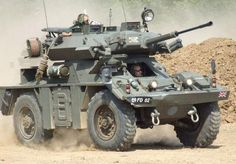 FV 721 Fox Combat Vehicle Reconnaissance (Wheeled) (CVR(W)) ' British 4 × 4 armoured car Army Vehicles, Armored Vehicles, Tank Armor, British Armed Forces, Armored Fighting Vehicle, Battle Tank, Military Weapons, Military Equipment, British Army
