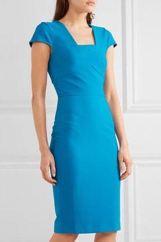 Roland Mouret - Whistler Stretch-crepe Dress - Blue - UK