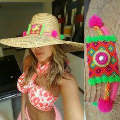 SOMBREROS DE PAJA DECORADOS❤beautiful hat decorated with weave Wayuu  ♡ sombrero de paja decorado con pompones ,cintas y tejido wayuu  By @mardeamorsw ❤ #sombreroaguadeño #sombrerowayuu #sombreros #sombrerobeach #sombrerodeplaya #sombrero #sombrerodecorado #sombrerosdecorados #wayuustyle #wayuu #sandaliaswayuu #sandals #sandalias #wayuumochila #wayuubags #wayuubag #wayuubracelets #mardeamorsw