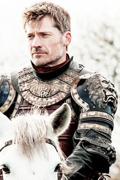 "Jaime Lannister in Game of Thrones 6.07 ""The Broken Man"". Nikolaj's got that beard coming back & I'm so into it"