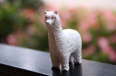 Cute Clay Alpaca Figurine
