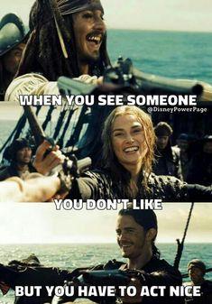 Pirates Of The Caribbean x reader oneshots - Jack Sparrow x Reader - Wattpad Jack Sparrow Funny, Jack Sparrow Quotes, Stupid People Funny, Funny People Pictures, Funny Pics, The Pirates, Pirates Of The Caribbean, Funny Disney Jokes, Disney Memes