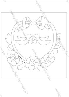 Embroidery Pattern from stamp on image by Ding Dingmao  via m.blog.sina.com.cn. jwt This design would make a great Ring Bearer Pillow! jwt