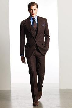 brown tuxedos | Chocolate brown Groom Tuxedos Groomsmen Groom Wear ...
