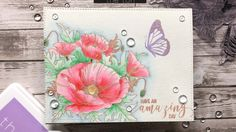 Stamp beautiful clustered poppies with this set! inches 4 stamps Made of photopolymer Made in the U. The poppy cluster measures approximately x inches at its widest points. Coordinating dies can be found here. Poppy Youtube, The Ton Stamps, Diy Cards, Handmade Cards, Floral Theme, Watercolor Cards, Watercolour, Card Tutorials, Scrapbook Cards