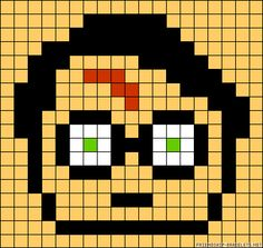 Harry Potter Perler Bead Pattern Or Fill In The Graph