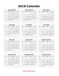2018 calendar png