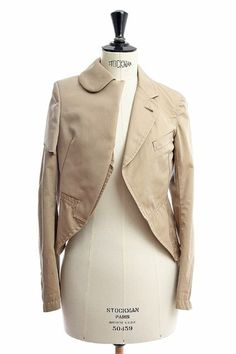 Comme Des Garcons Ad 2009 • Beige • Cotton • Deconstructed • Tailored Jacket | eBay