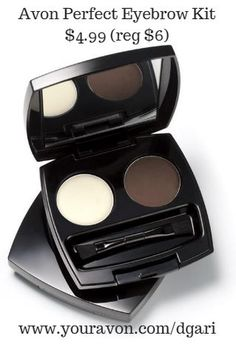 This powder & wax set colors in brows & provides shape & hold. https://www.avon.com/product/perfect-eyebrow-kit-49260?rep=dgari #eyebrow #kit #beauty #avon #makeup