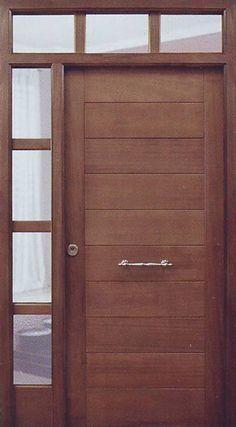 Puertas de Exterior Modernas   PuertasyVentanasLoreto.com Modern Entrance Door, Modern Front Door, House Entrance, Entrance Doors, Sliding Door Design, Front Door Design, Gate Design, Window Design, External Wooden Doors