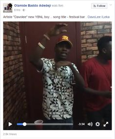 YBNL boss Olamide has decided to increase his roster of artistes in his YBNL music imprint.  Olamide took a little different route to introduce the new YBNL rapper Davolee to his fan base. He posted a video on Facebook where the new signee was rapping as YBNL in-house producer Pheelz played on the keyboard. Davolee rapped in the video in the midst of Olamide Pheelz and other unidentified males song title Festival Bar.  Davolee Ileka is the latest artistes signed by Olamide after Lil Kesh and…