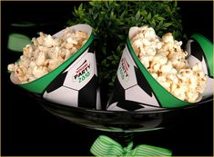 soccer party and popcorn bar