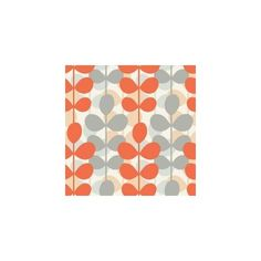 56 sq.ft. Orange and Grey Retro Modern Leaf Stripe Wallpaper-WC1280104... (150 BRL) ❤ liked on Polyvore featuring backgrounds, patterns and wallpaper