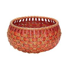 Lazy Susan 466051 Small Fish Scale Basket In Red And Orange
