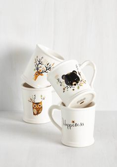 Acquaintance is a Virtue Mug Set, @ModCloth