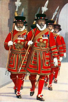 Yeoman of the Guard (Beefeaters) at the Tower of London