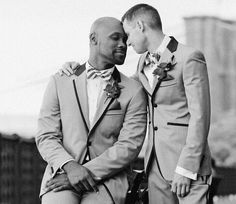 Interracial gay marriage. Oh my, I think a few conservative southern heads exploded. I LOVE IT :)