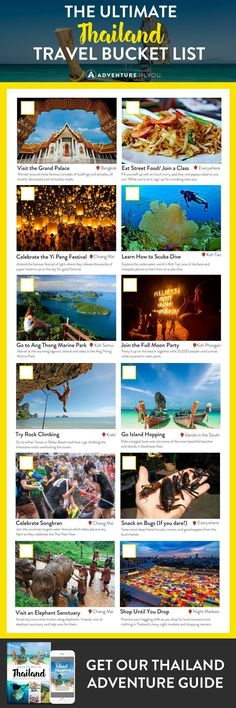 Thailand Bucket List   Planning a trip to Thailand? Here's the ultimate Thailand bucket list to help you explore the best of what this country has to offer.