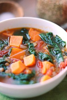 I made this for dinner tonight and it was so delicious! Vegan Sweet Potato and Lentil Soup!