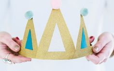 Make birthday crowns with this tutorial.