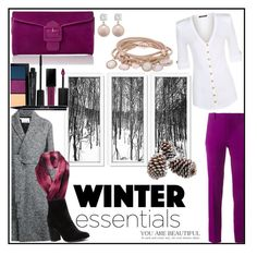 """•Winter essentials •"" by fashionvictim1989 ❤ liked on Polyvore featuring Alexander Wang, Roland Mouret, Balmain, Jankuo, Marjana von Berlepsch, Lucy, Witchery, MAC Cosmetics, Smashbox and Stila"