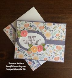 Stampin Up Happy Birthday Gorgeous Birthday Cards Ideas - Rosanne Mulhern https://heartfeltstamping.com/2017/05/happy-birthday-gorgeous/