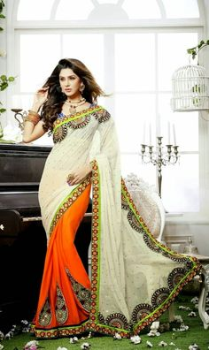 Rich Embroidered Saree Collection | Fancy Work Lehenga And Blouses | Designer Saree's 2014-2015