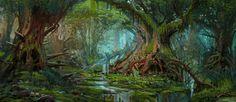 Primeval Forest, Jason Scheier on ArtStation at https://www.artstation.com/artwork/primeval-forest-7bbf5890-a268-43f0-945a-fb92a981d70c