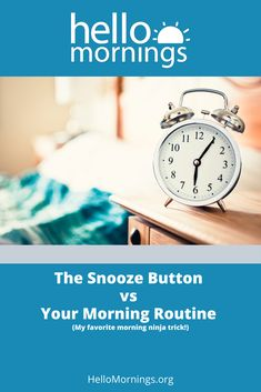 Snooze Button vs Your Morning Routine (My favorite morning ninja trick! Best Of Intentions, Making Space, How To Wake Up Early, Ninja, Routine, The Incredibles, Buttons, My Favorite Things, Learning