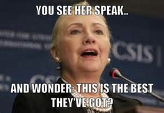 When I see her speak, I hear fake southern accents, desperate use of the tattered race card and the sound that a hissing snake would make.#wakeuppeople  #nohillary #itsallanact