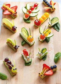 Bug Snacks, Healthy Snacks, Party Snacks, Dinner Healthy, Healthy Birthday Snacks, Snacks Diy, Cute Kids Snacks, Picnic Snacks, Snacks Ideas