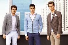 Business & Leisure–Danny Schwarz is joined by Jacey Elthalion and Benedikt Angerer in a photo shoot among the skyscrapers for Interview Sarar's spring/ Business Casual Attire For Men, Casual Wear For Men, Business Wear, Mens Fashion Blazer, Men's Fashion, Fashion Styles, Nerd, Navy Seals, Couture
